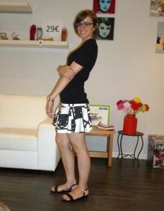 Sandalias negras con glitter de Abril Blau_5