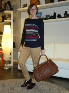 Zapatos tricolor de Wonders y bolso cuero de Pepe Moll_7